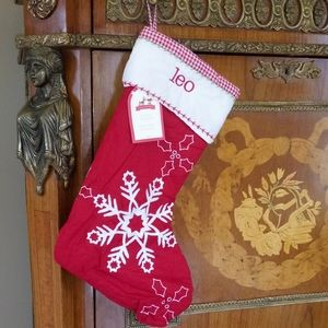 """1209 Pottery Barn Kids """"leo"""" Quilted Stocking"""